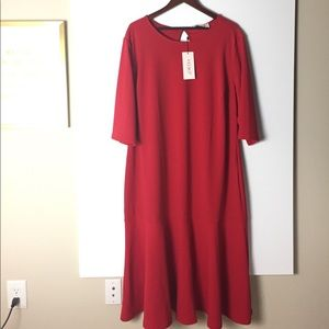 ASOS Curve   Club L Kick Flare Red Dress